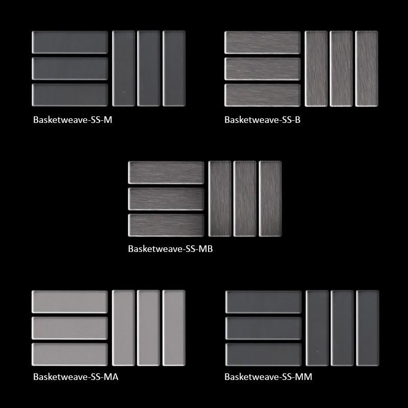 Basketweave SS M Metal Flooring