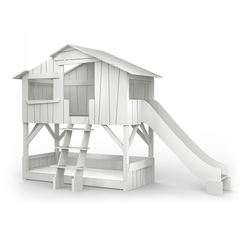 Threehouse Bunk Bed And Single Slide Play House