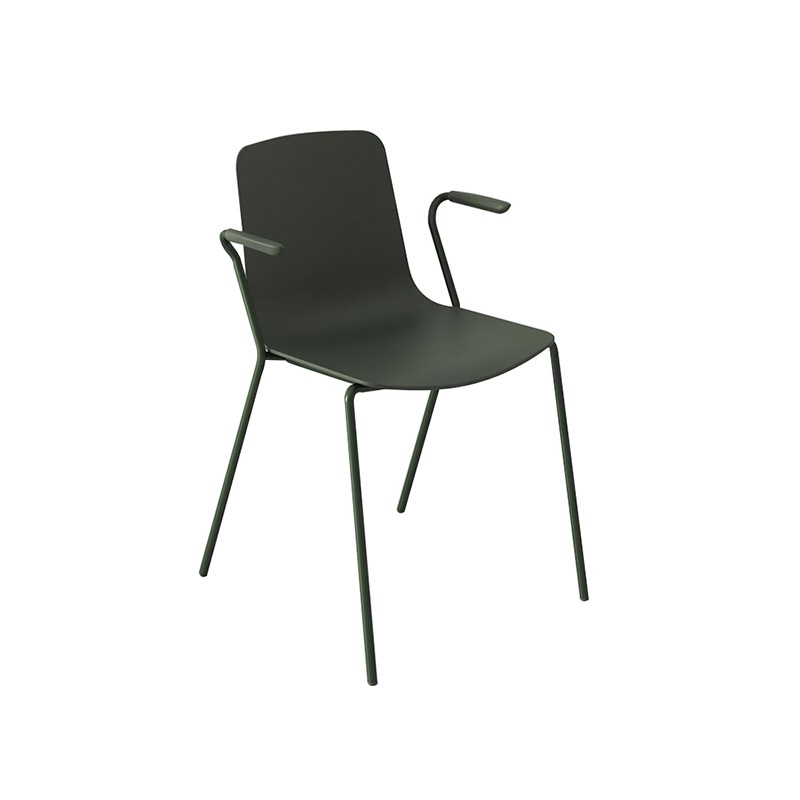 4 LEG TUBE FRAME D.16 WITH ARMS Cafe Chairs