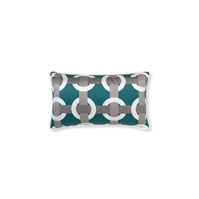 Bowline Blue Geometric Cushions