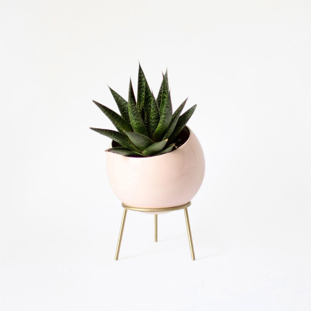 Globe Midi Planter - Power Pink by Kitbox Design