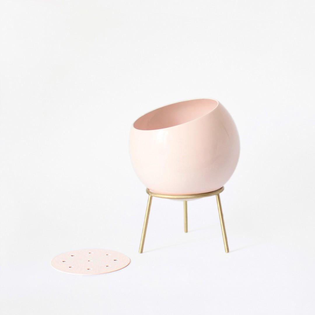 Globe Midi Planter - Power Pink Pots and Planters