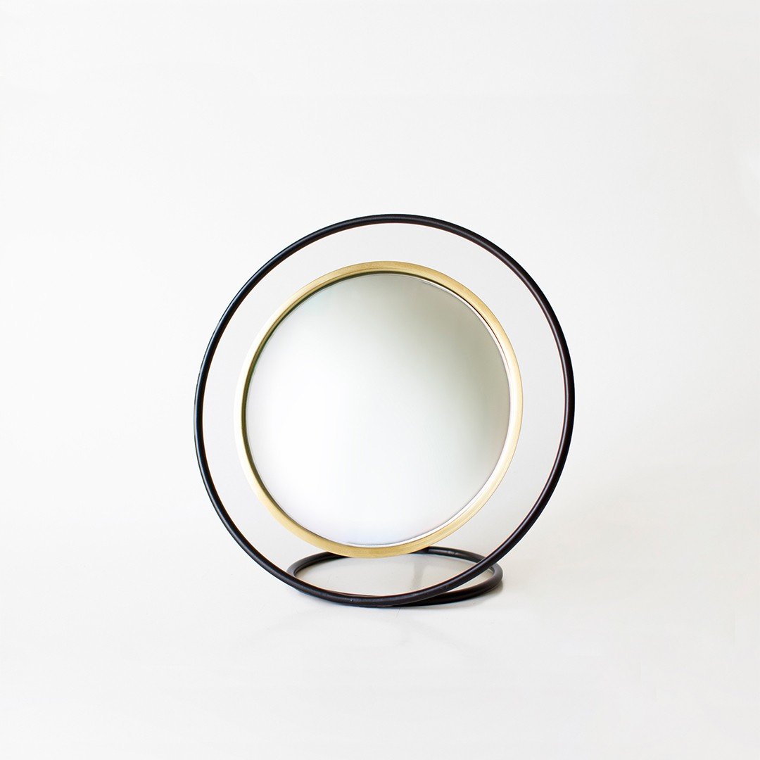 Hollow Mirror Brass - Small Size by Kitbox Design