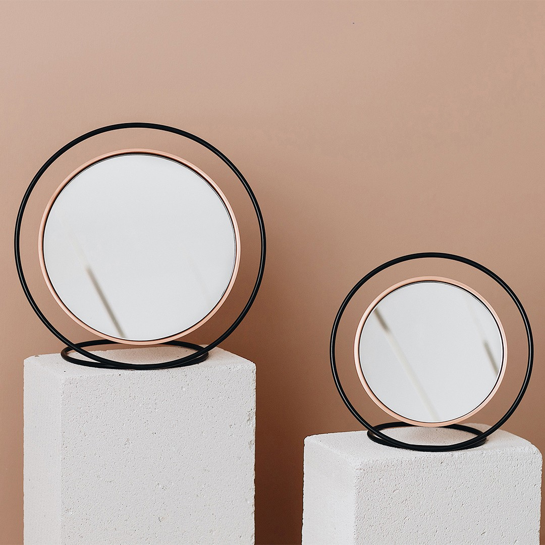 Hollow Mirror Copper - Small Size by Kitbox Design